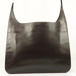 Auth Gucci Dark Brown Shoulder Bag #3989G71